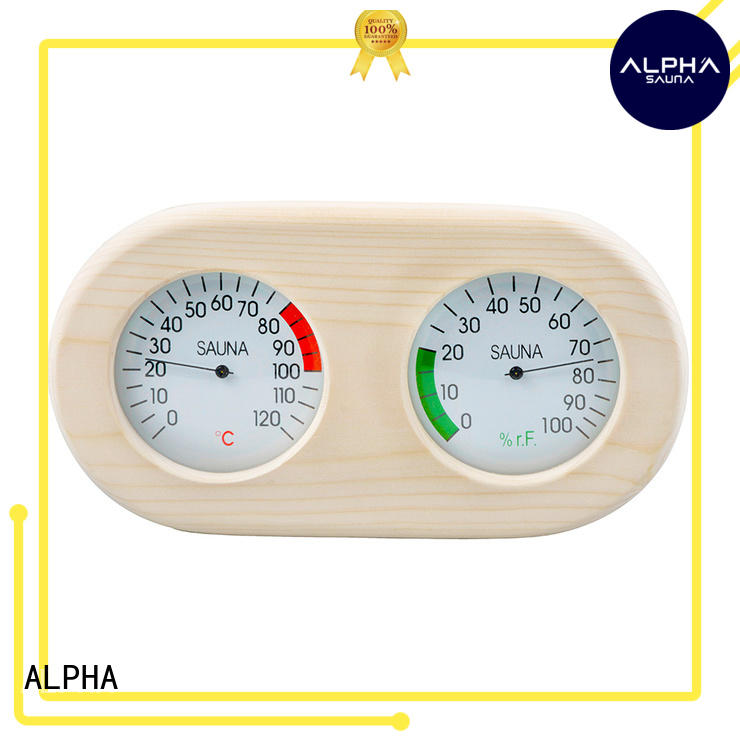 angled hygrometer sauna pine customized for indoor