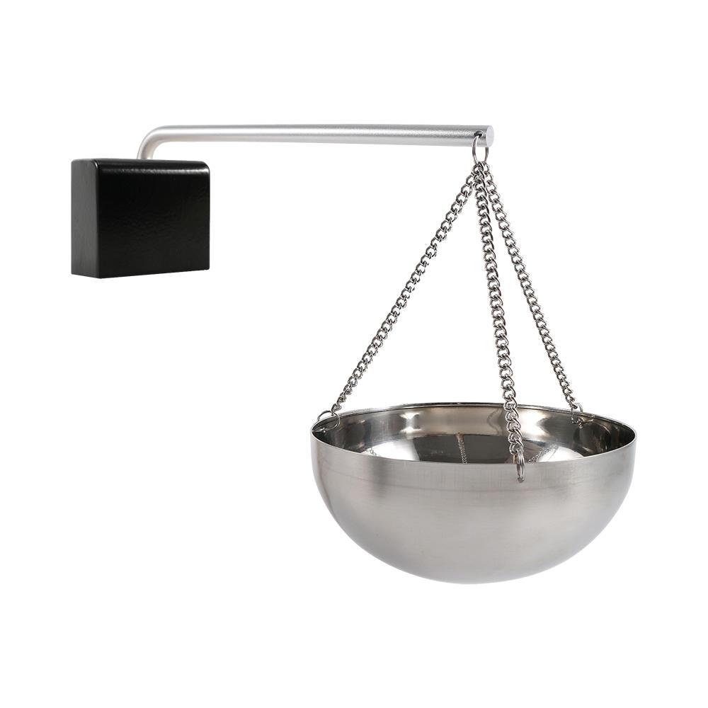 Stainless steel Fragrance oil holder +wooden base+alu. Pipe+ stainless steel chain