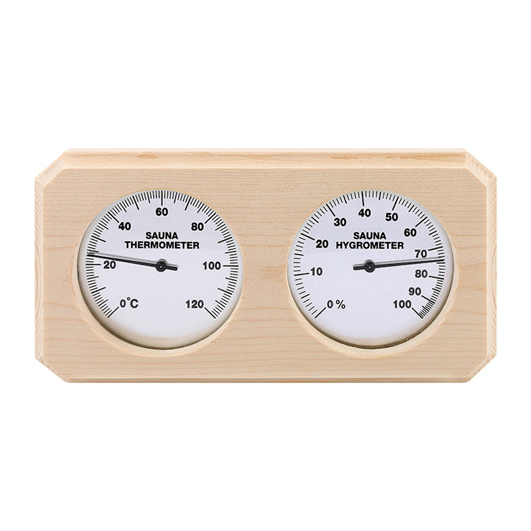 Pine thermometer and hygrometer (color customized)
