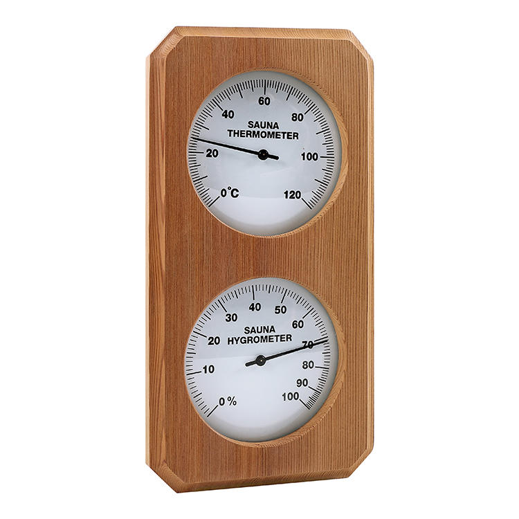 Cedar thermometer and hygrometer (custom style and color)