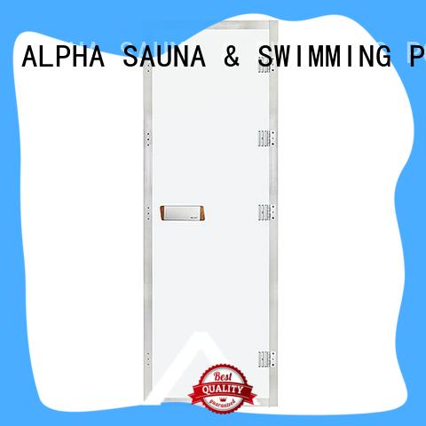 ALPHA finnish cheap sauna doors factory for bathroom