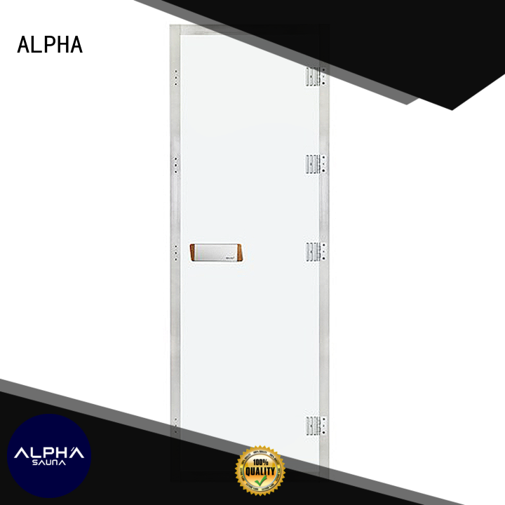 ALPHA doors sauna glass door factory for villa