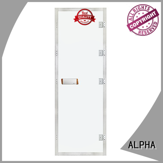 ALPHA toughened cedar sauna door wholesale for hotel