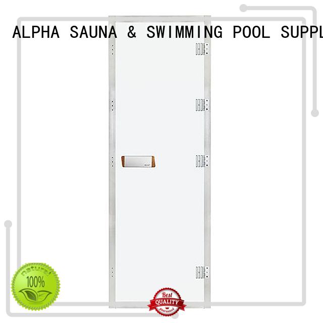 toughened traditional ALPHA Brand sauna wood door factory