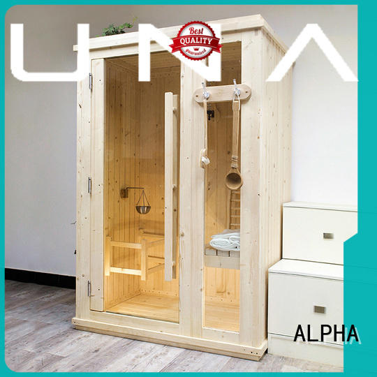 ALPHA option indoor steam sauna kits from China for bathroom