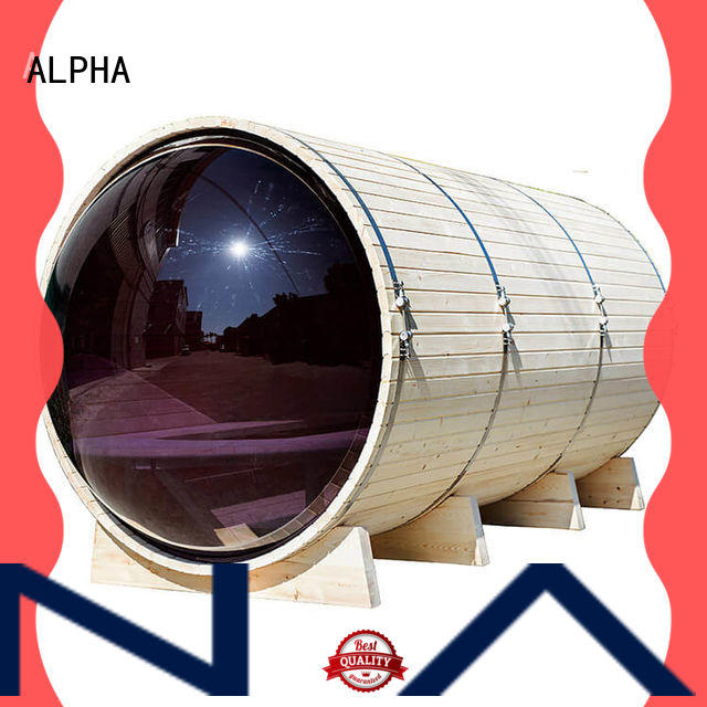 ALPHA outdoor sauna for business