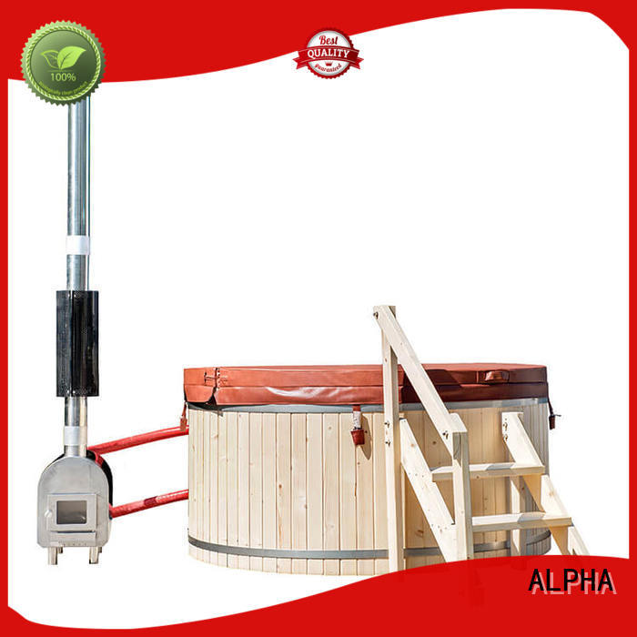 cedar wood burning hot tub with good price for cabin ALPHA