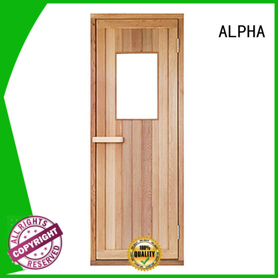 ALPHA wooden sauna doors and windows traditional for household