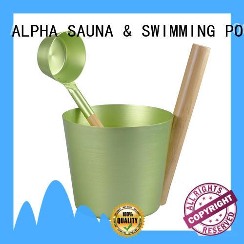 ALPHA sauna bucket and ladle company