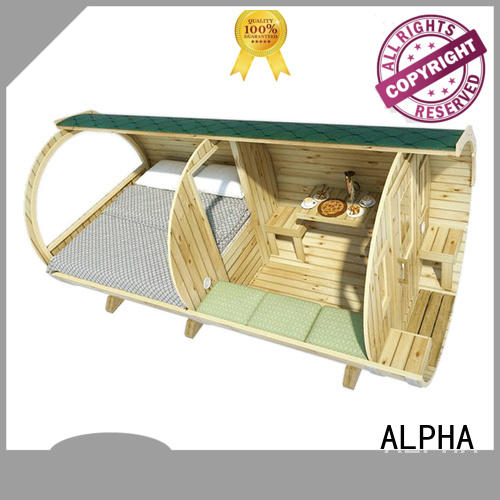 durable camping pods with beds height personalized for villa