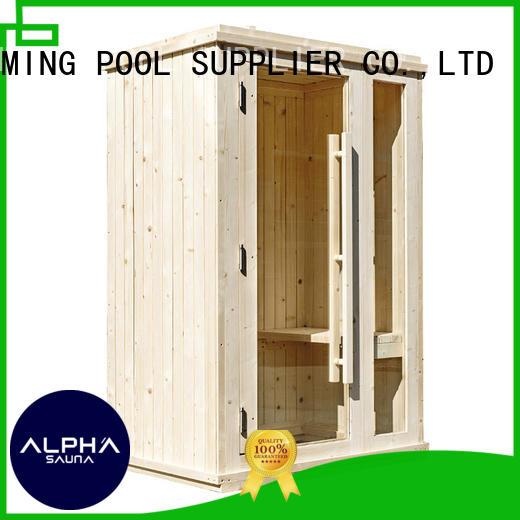 ALPHA dry 2 person sauna design for indoor