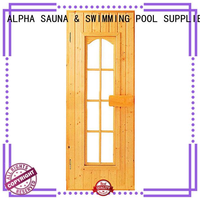 windown wet hinges sauna wood door ALPHA manufacture