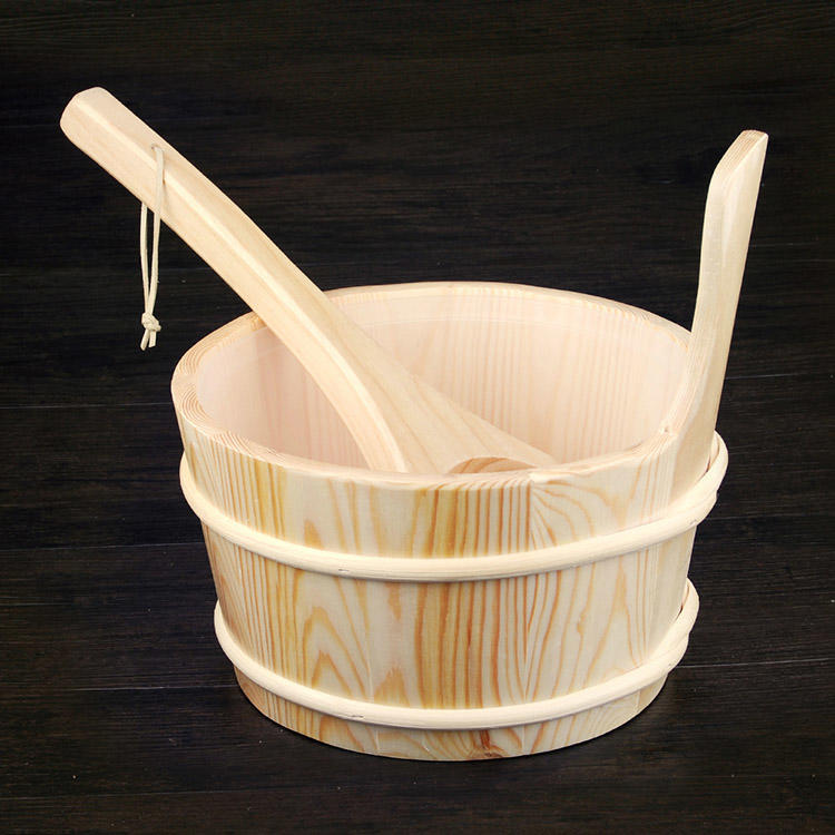 Sauna bucket and ladle for Dry sauna rooms Accessories 4L Aspen/Red Cedar/Spruce