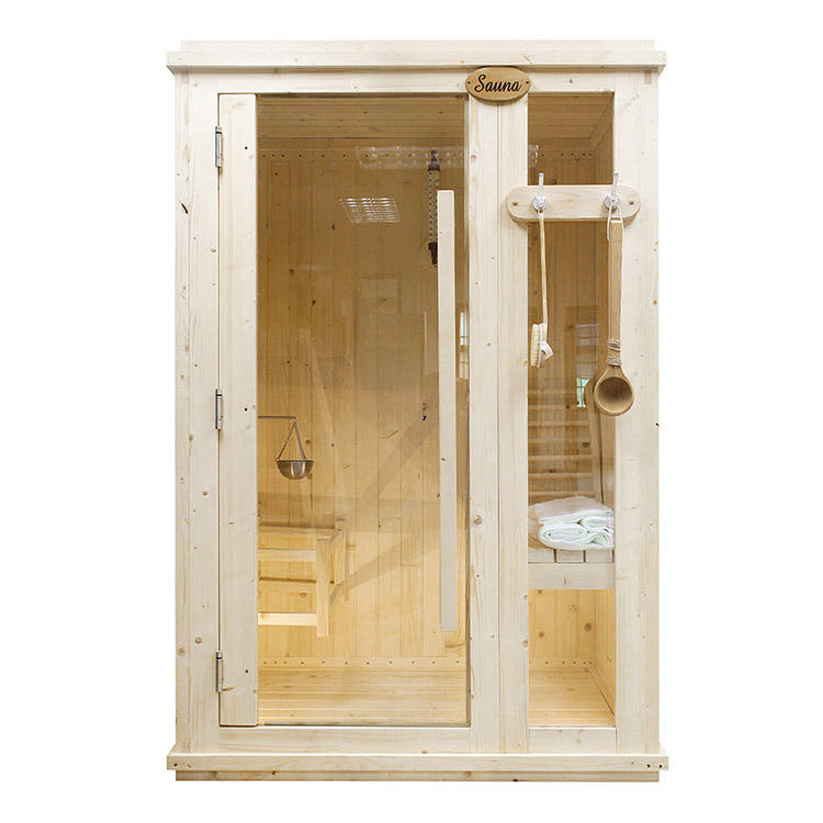 Sauna Room Indoor Dry1-3/8″ thick  panel high quality option 1350*900*2100MM(L*W*H).