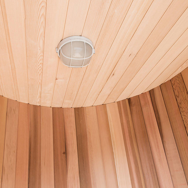 Barrel Sauna Room Silo Canada Clear Red Cedar  For Outdoor Use