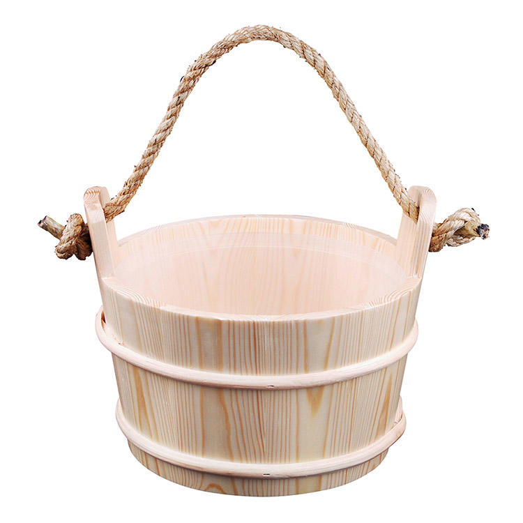 Sauna Pail and Ladle for dry sauna accessories 4L Spruce/Red Cedar/Aspen