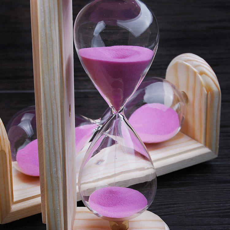 Sauna Luxury Sand Timer 15 Minutes Wall Mounting Pink/Yellow/ White/ Black, Orange etc Color Sand