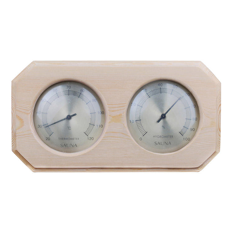 Sauna Thermometer Hygrometer Wood Mount Alphasauna Branded