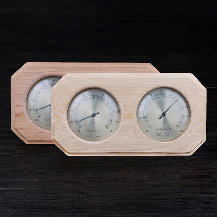 Sauna Thermometer Hygrometer Wood Mount Alphasauna Branded