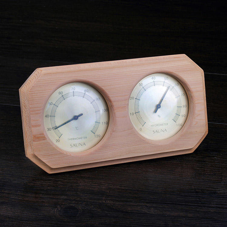 Red cedar Sauna Hygrometer Temperature Oblique Angled Shape Finnish White for Sauna