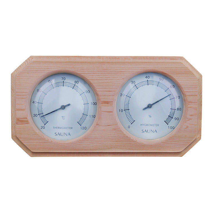 Red Cedar Sauna Thermometer And Hygrometer​ Alphasauna