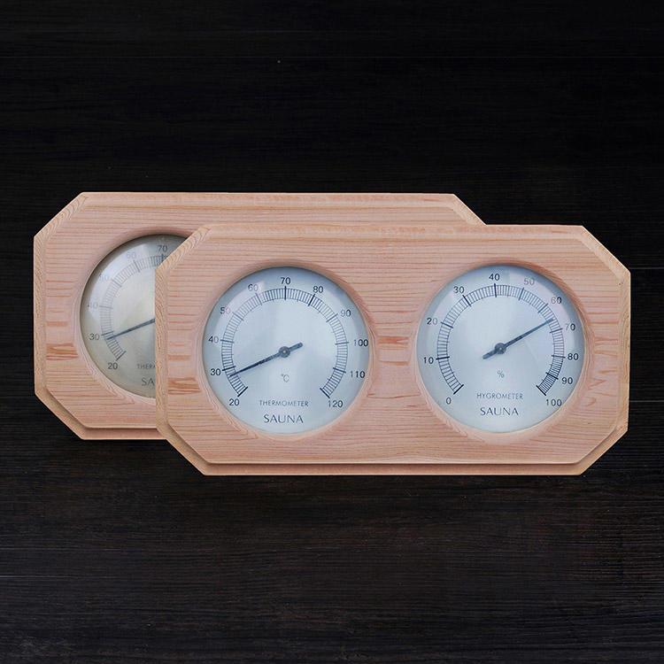 Red Cedar Sauna Thermometer And Hygrometer Alphasauna