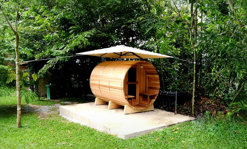 Malaysia feedback of outdoor barrel sauna room