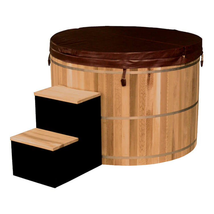 Wooden Hot Tub with electrical heater and filtration system,SPALife Red cedar/Spruce