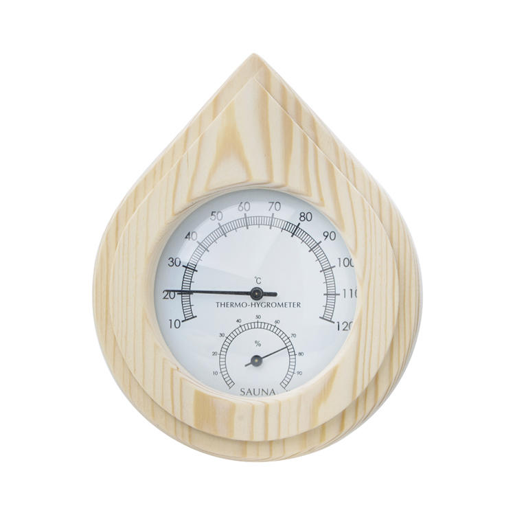 Cedar/Aspen/Birch/Pine Sauna Thermometer and Hygrometer Alphasauna
