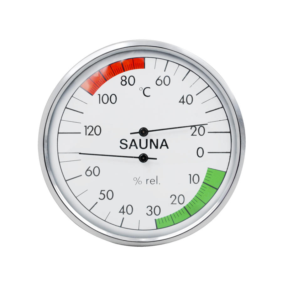 Sauna Thermometer And Hygrometer Alphasauna