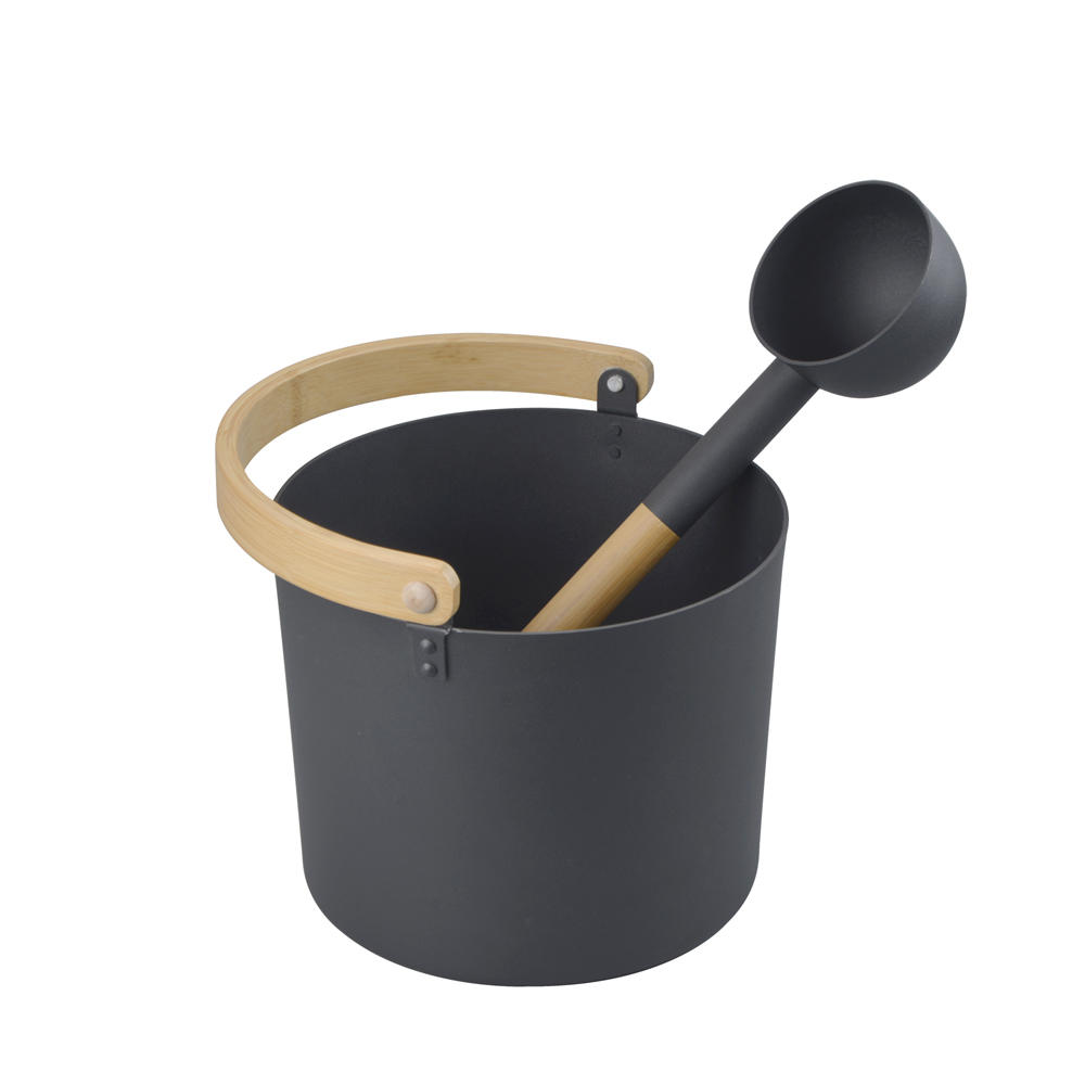 Alphasauna Colorful Aluminum Sauna Pail and Ladle