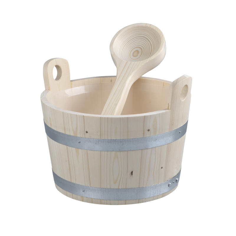Alphasauna Galvanized Sauna Bucket And Ladle 5L