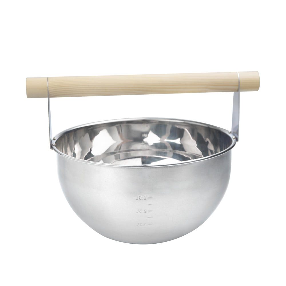 Alphasauna 4L Stainless Steel Bucket And Ladle