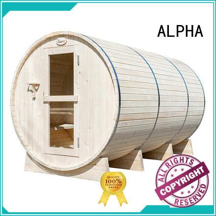 ALPHA hemlock sauna room factory price for indoor