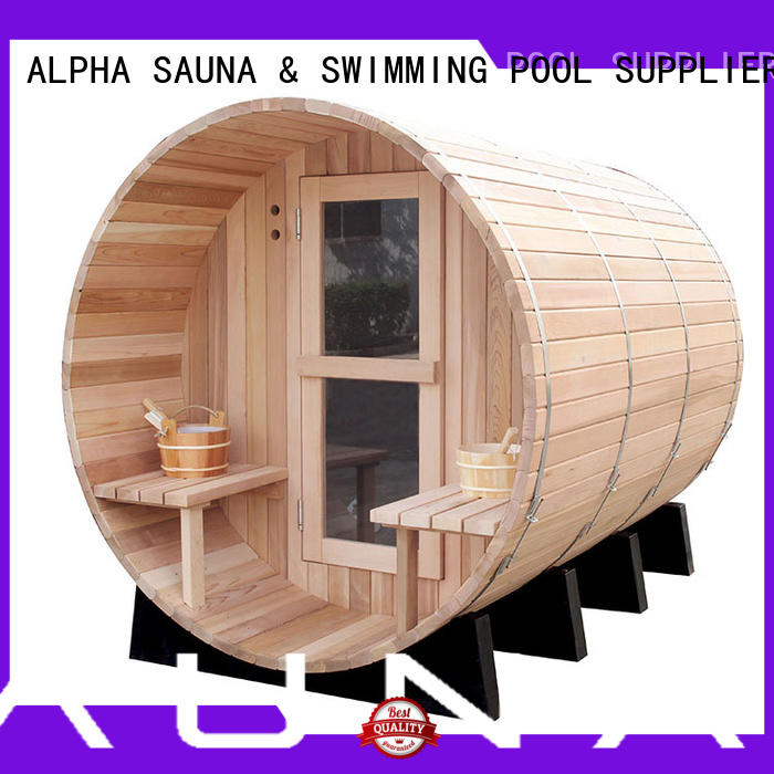 ALPHA red sauna kits personalized for hotel