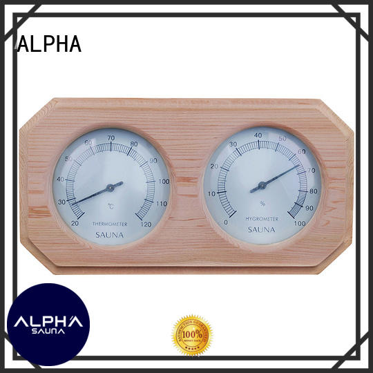 ALPHA angled sauna thermometer directly sale for indoor
