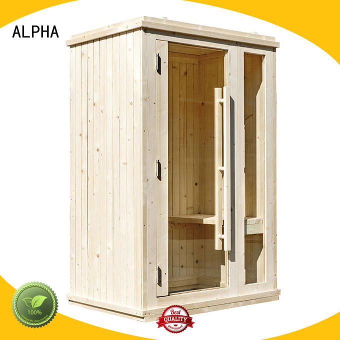 clear 2 person sauna barrel for bathroom ALPHA
