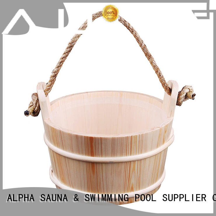 ALPHA wooden wooden sauna bucket and dipper 6l for cabin