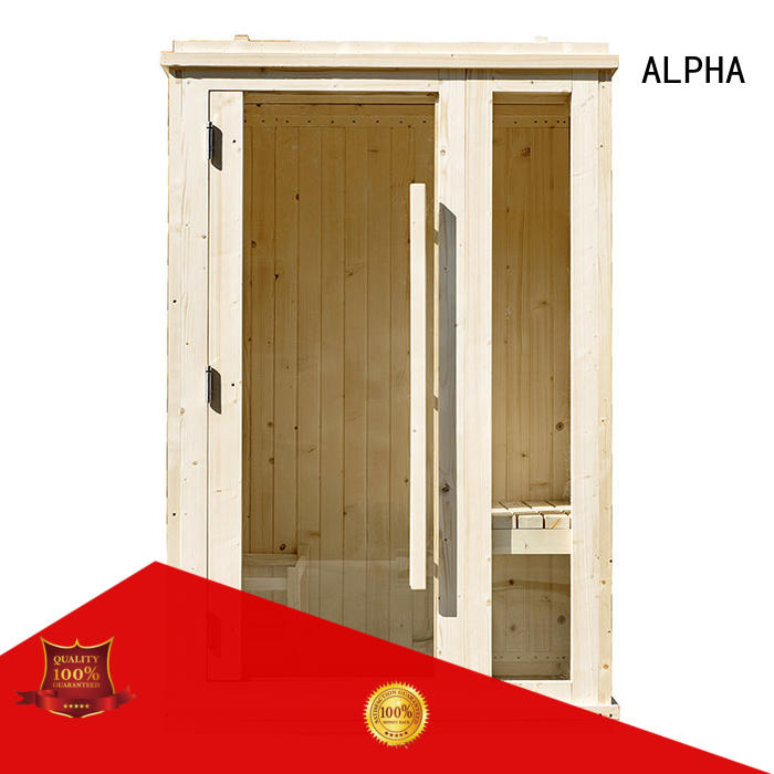 ALPHA quality 2 person sauna customized for outdoor