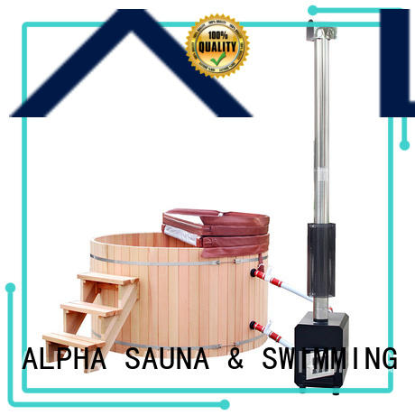 ALPHA wooden wood stove hot tub factory price for cabin