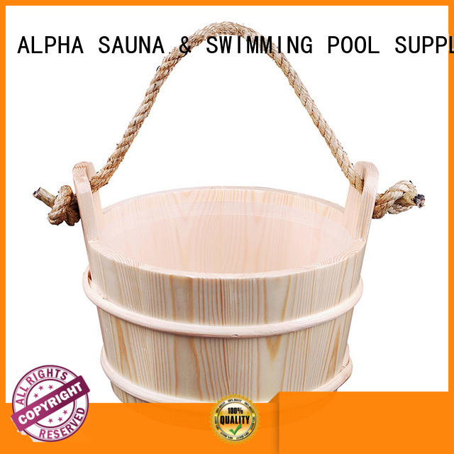 ALPHA painting sauna bucket and ladle inquire now for outdoor