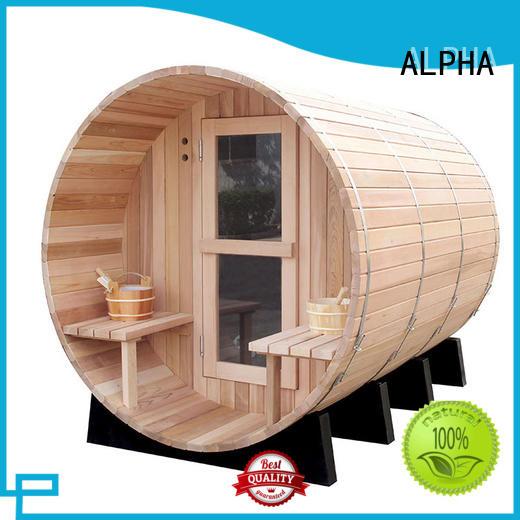 ALPHA outdoor sauna manufacturers