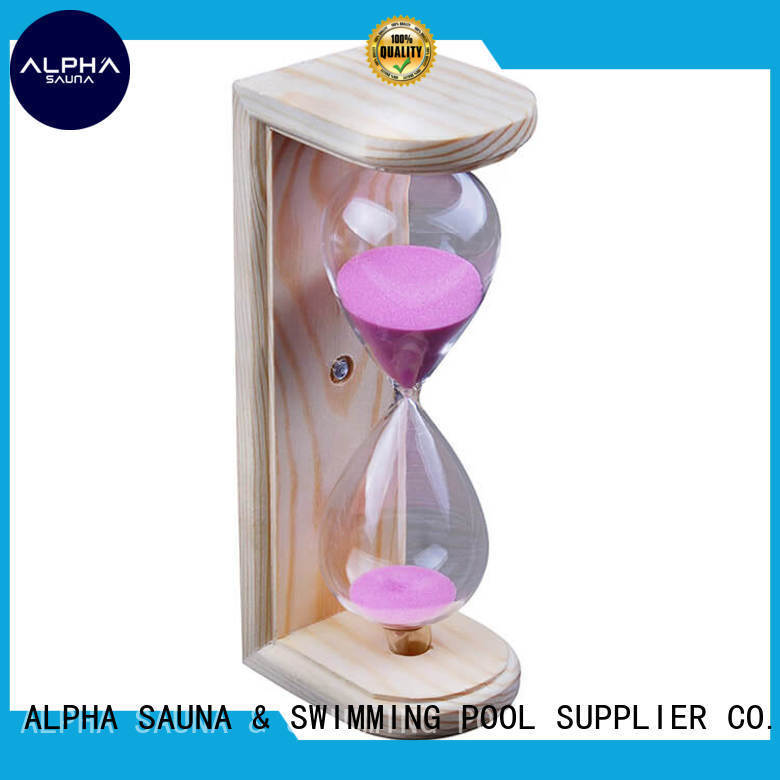 ALPHA color sand hourglass personalized for bathroom