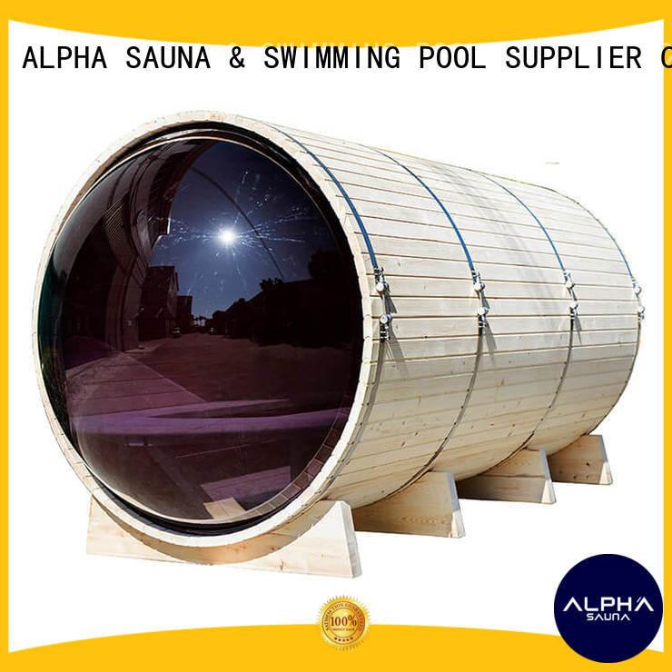 ALPHA panoramic outdoor sauna bauen barrel for bathroom