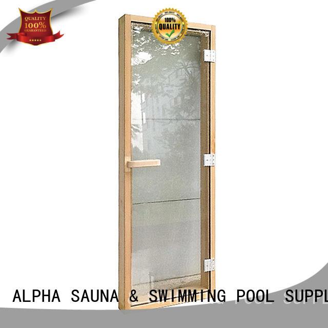 window sauna door glass ALPHA company