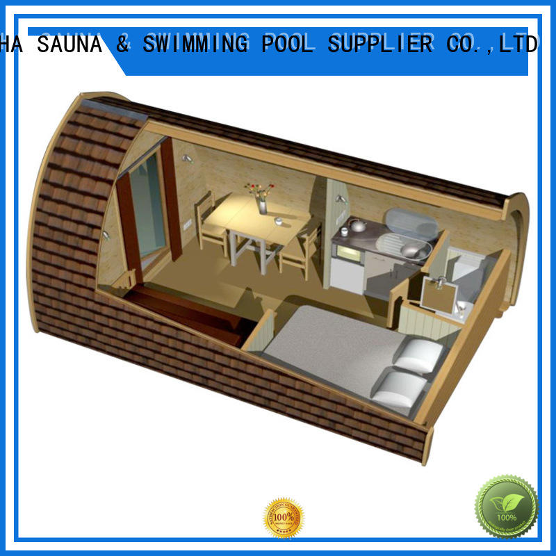 Barrel Camping Wooden House Length 4800* Height 2400* Width 2400MM