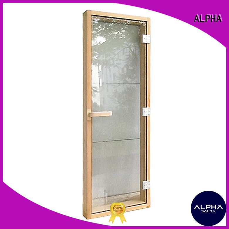 ALPHA cedar sauna room door wholesale for household