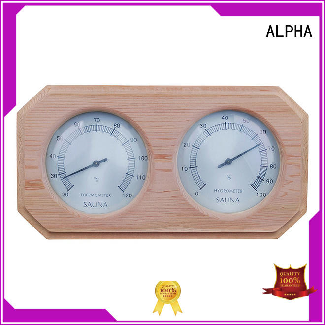 ALPHA angled sauna thermometer from China for outdoor