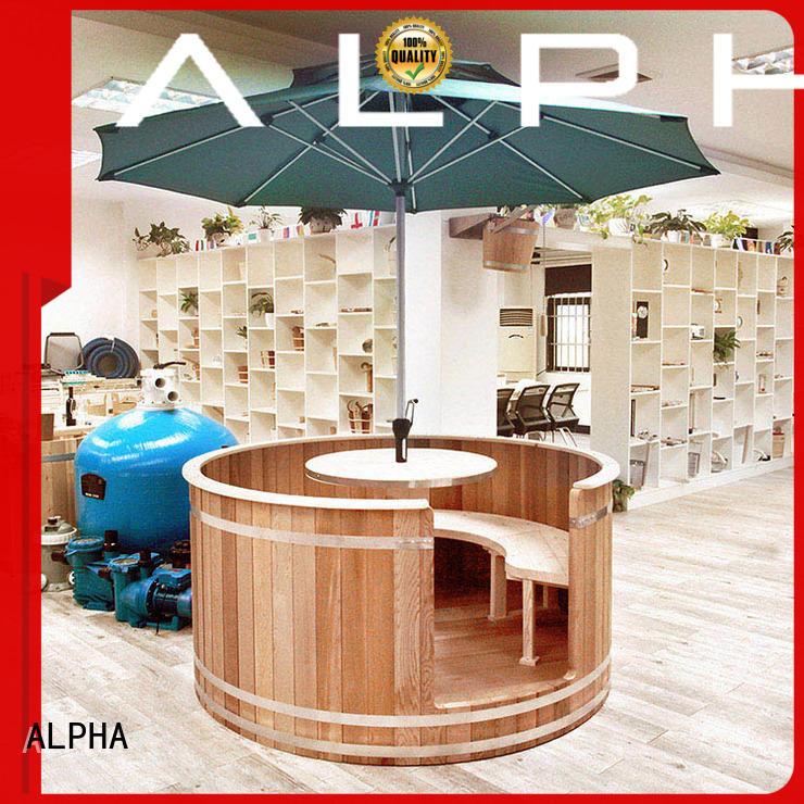 ALPHA red cedar sauna factory