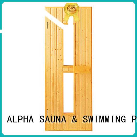 ALPHA western steam room door wholesale for villa